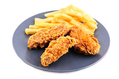 Кудрявый цыпленок Стоковое Фото