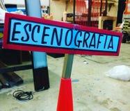 Кулуарный знак Escenografia Стоковая Фотография
