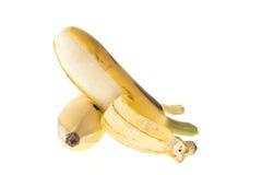 Культивируемый банан, тайский банан изолированный на белизне Стоковые Изображения RF
