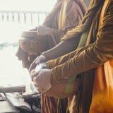 Культура заслуги монаха тайская традиционная Стоковые Изображения RF