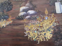 Культура Таиланда искусства стены Стоковые Фото