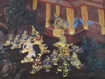 Культура Таиланда искусства стены Стоковая Фотография
