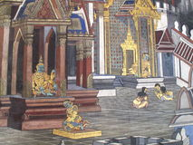 Культура Таиланда искусства стены Стоковые Фотографии RF