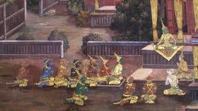 Культура Таиланда искусства стены Стоковое фото RF