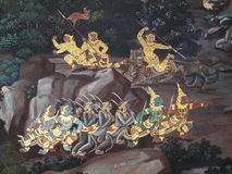 Культура Таиланда искусства стены Стоковое Изображение RF
