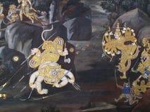 Культура Таиланда искусства стены Стоковое Фото