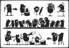 Культурные характеры Стоковые Изображения RF