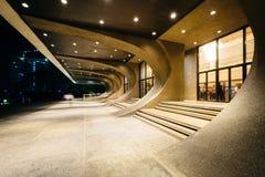 Культурный центр Филиппин на ноче, в Pasay, метро Стоковое Изображение RF