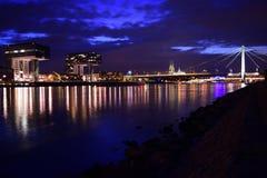 Кёльн на ноче Стоковое Изображение