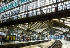 Кёльн Hauptbahnhof, Кёльн, Германия Стоковое фото RF