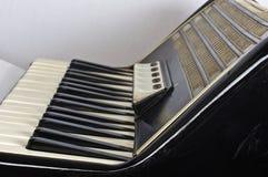 Клавиатура и регистры аккордеона стоковые изображения rf