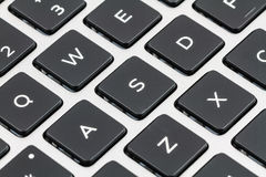 Клавиатура компьтер-книжки с черными ключами closeup Стоковое фото RF
