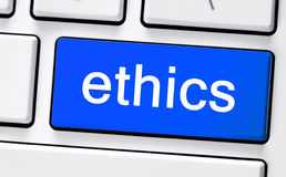 Клавиатура компьютера белая с этиками Стоковые Фото