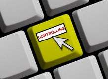 Клавиатура компьютера - контролирующ Стоковые Фото