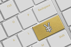 Клавиатура компьютера с кнопкой иен Стоковые Изображения
