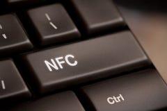 Клавиатура компьютера с технологией NFC Стоковые Изображения RF