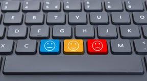 Клавиатура конца-вверх с 3 ключами smiley Стоковое Фото