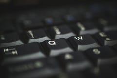Клавиатура ПК черная Стоковые Фотографии RF