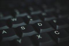 Клавиатура ПК черная Стоковая Фотография