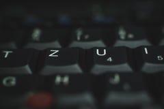Клавиатура ПК черная Стоковые Изображения RF