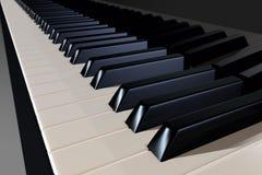 Клавиатура рояля в взгляде перспективы, иллюстрация штока