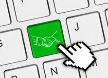 клавиатура рукопожатия компьютера кнопки Стоковое Изображение