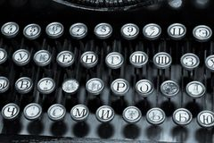 Клавиатура старой машинки Стоковые Изображения RF