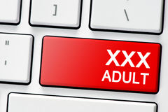 Клавиатура с взрослым кнопки xxx Стоковые Фото