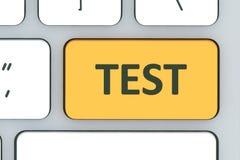 Клавиатура с кнопкой испытания Клавиатура компьютера белая с испытанием но Стоковая Фотография RF
