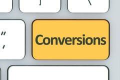 Клавиатура с кнопкой преобразований Клавиатура компьютера белая с c Стоковое Изображение