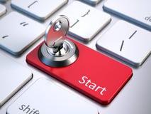 Клавиатура с кнопкой старта иллюстрация штока