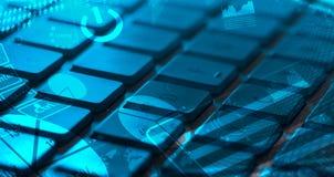 Клавиатура с накаляя диаграммами Стоковая Фотография RF