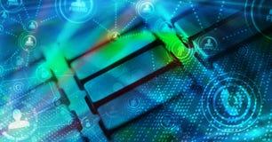 Клавиатура с накаляя социальными значками сети Стоковое Изображение