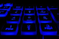 Клавиатура с светлыми кнопками Стоковые Фото