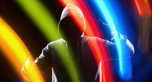Клавиатура хакера будущая виртуальная Стоковые Фотографии RF