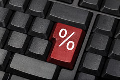 Клавиша на клавиатуре знака процентов Стоковое фото RF