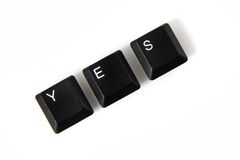 Клавиши на клавиатуре - да Стоковое Изображение RF
