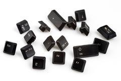 Клавиши на клавиатуре на белой предпосылке Стоковая Фотография RF