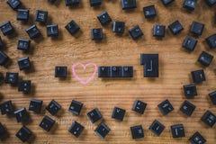 Клавиши на клавиатуре на доске Стоковое Изображение RF