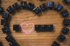 Клавиши на клавиатуре на доске Стоковая Фотография
