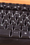 Клавиши на клавиатуре ПК черноты макроса крупного плана неиспользованные Стоковое Фото