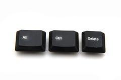 Клавиши на клавиатуре - ctrl, alt, del Стоковые Изображения RF