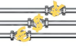Трубопровод денег иллюстрация штока