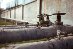 Клапаны и тубопровод Стоковые Фото