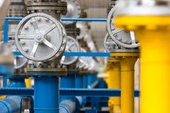 Клапаны на газовом заводе Стоковое фото RF