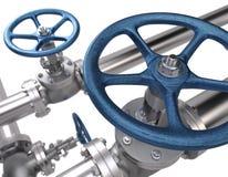 клапаны предпосылка промышленная Стоковая Фотография RF
