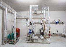 клапаны пробок системы отопления стоковое фото rf