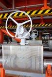 Клапаны ручные в производственном процессе Стоковое Фото