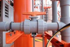 Клапаны ручные в производственном процессе Стоковое фото RF