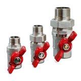 Клапаны для горячего wate Стоковые Фото